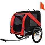 BuyHive Dog Bike Trailer Foldable Pet Cat Bicycle Carrier Stroller Jogger Shopping Wagon