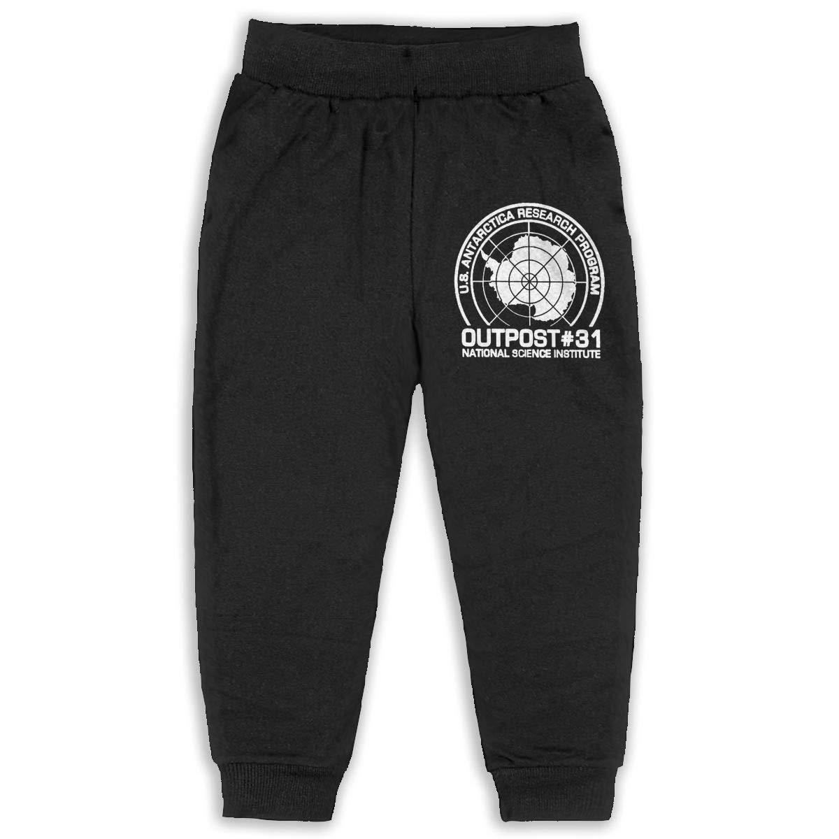 Fleece Active Joggers Elastic Pants DaXi1 Outpost 31 Antarctica Research Sweatpants for Boys /& Girls