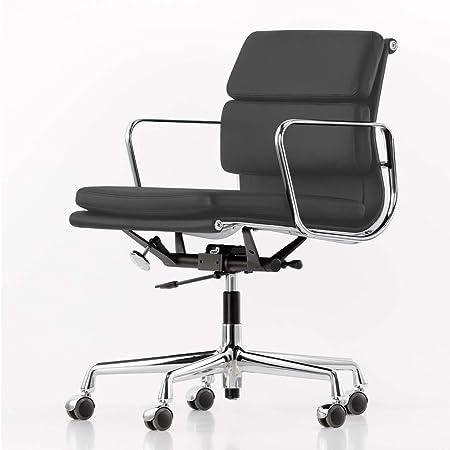 Vitra Ea 217 Soft Pad Eames Alu Chair Burostuhl Leder Asphalt Grau