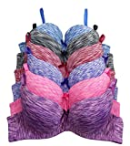34 d bra push up - Viola's Secret 6 pack of color print T-shirt Bras B cup C cup and D cup