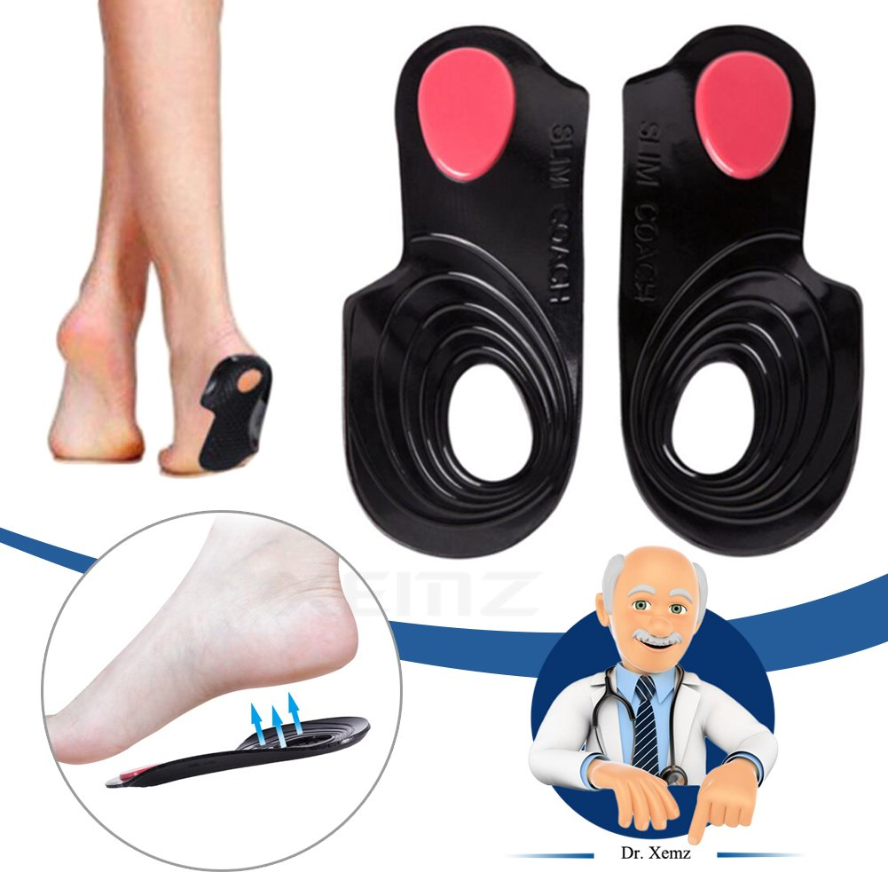 O/X Type Leg Orthopedic Insole, Gel Feet Pain Corrective Pads, Leg Posture Correcting Aids Inserts, Pronation Supination Step Correctors Straigtener, for Fallen Arches Flat Feet Bowlegs (M)