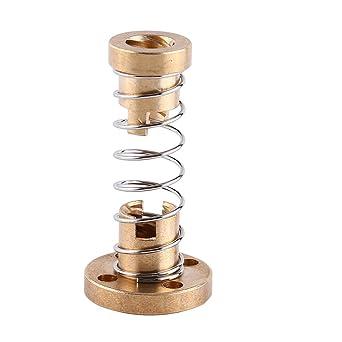 Tuerca de resorte T8 de cobre para la Impresora 3D Roscado Acme de ...