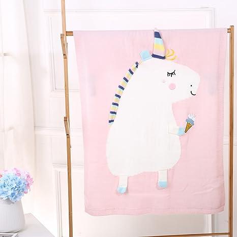 Manta de lana unicornio para bebé, recién nacido, bebé, niños, suave manta
