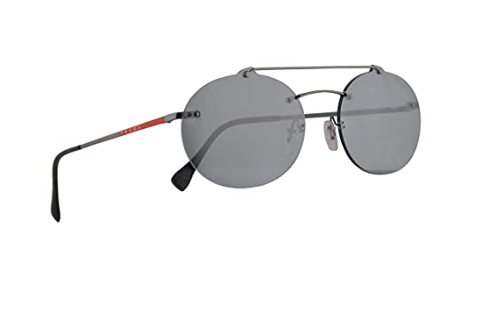 b36e79bf514 Image Unavailable. Image not available for. Color  Prada PS56TS Sunglasses  Gunmetal ...