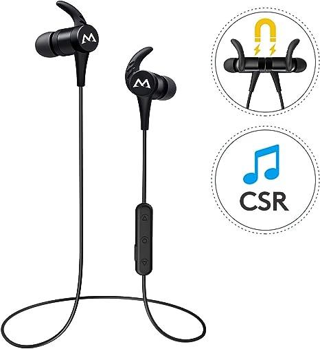 CVC6.0 Riduzione del Rumore Mpow Auricolari Bluetooth 5.0 Sport, S11 Cuffie Wireless con aptX e IPX7 Impermeabile Auricolari Magnetici con Suono Stereo HD per 9 Ore di Uso Versione Nuova