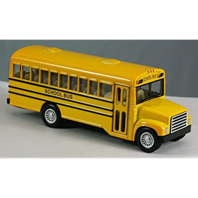 "Rhode Island Novelty 5"" Die Cast Pull Back School Bus: Toys & Games"