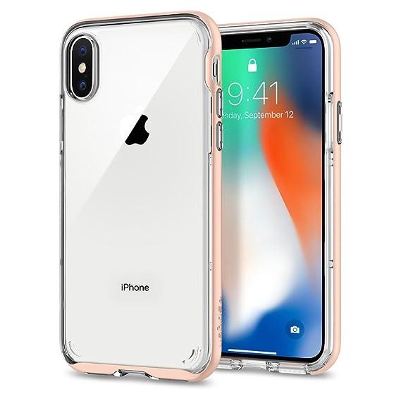 on sale 11d8f acef3 Spigen Neo Hybrid Crystal Designed for Apple iPhone X Case(2017) - Blush  Gold