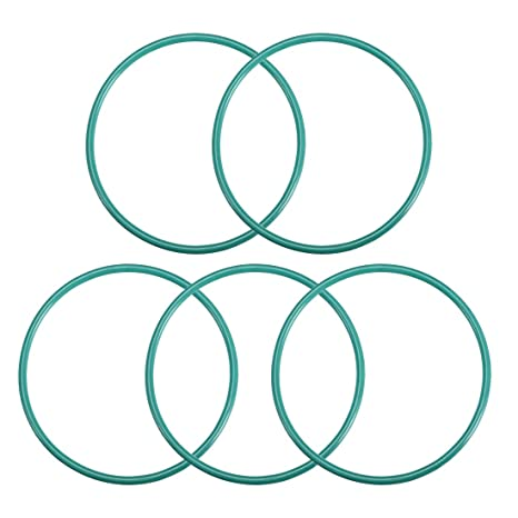 Pack of 5 uxcell Fluorine Rubber O-Rings 60mm OD 55.2mm ID 2.4mm Width FKM Seal Gasket for Vehicle Machinery Plumbing Green