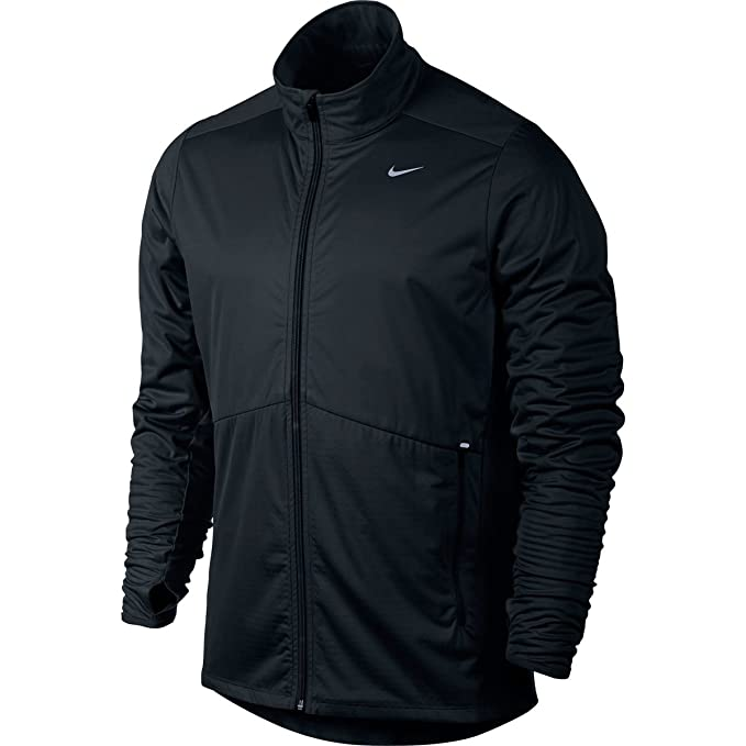 Nike Mens Element Shield Full-Zip Running Jacket Black ...