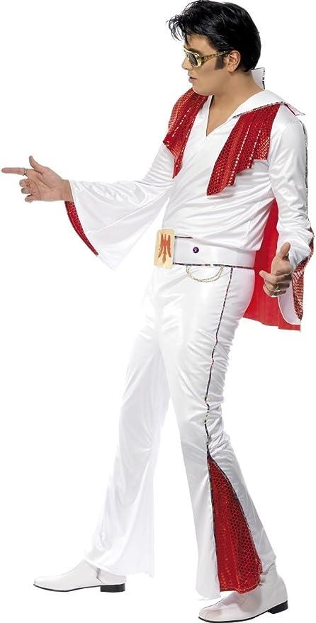 Disfraz de Elvis de los años 50 y 50 con Lentejuelas, para Hombre ...