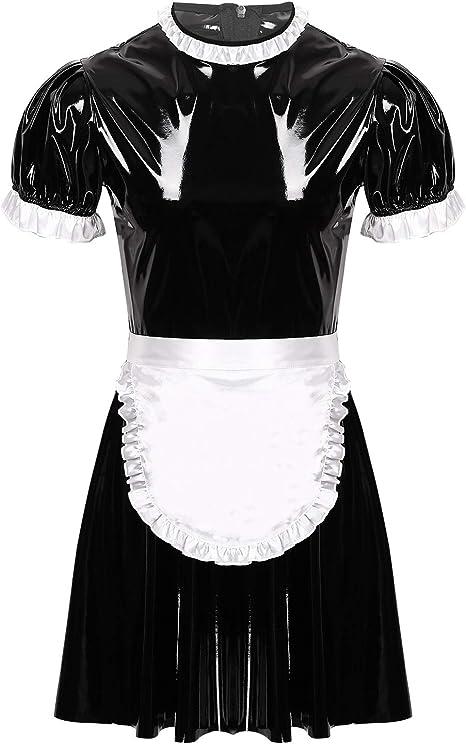 Herren Sissy Dienstmädchen Maid Kostüm Crossdresser Dessous Set Karneval Party