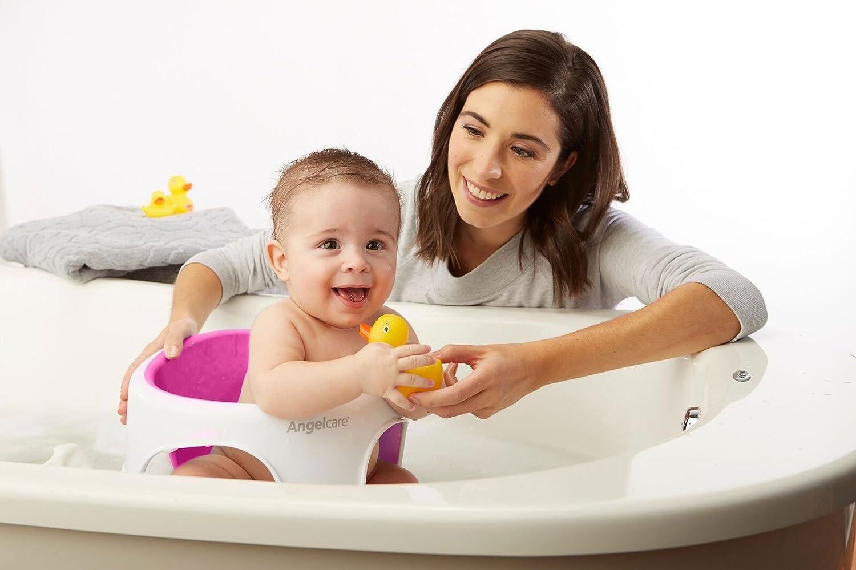 Angelcare - Silla de bebé para baño, suave al tacto rosa: Amazon ...