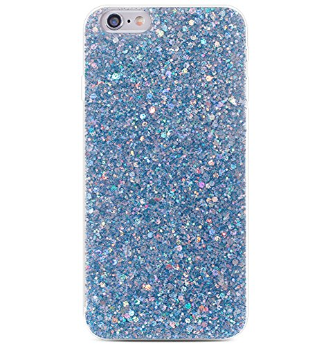 iPhone 8/7 Bling Case Sparkle Ombre Sequins Polka Dot Air Prism Glitter Translucent Soft TPU Flexible Slim 3D Design Case Cover for Apple iPhone 8/7(iPhone 8/7, Blue)