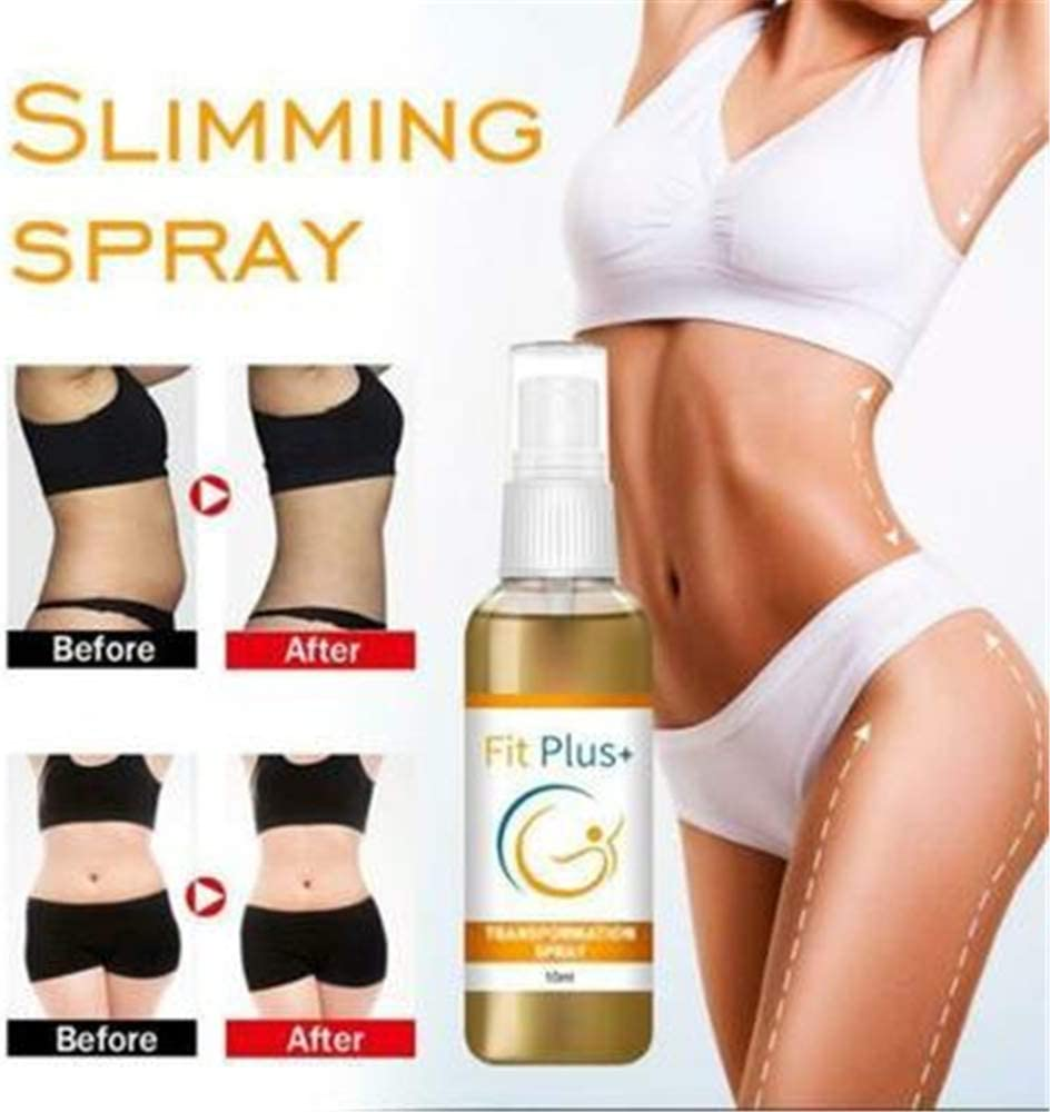 mkyulyp Fitplus+ Transformation Spray, Herbal Fat Loss Spray 30ml, Cellulite Removal Body Spray, Slimming Spray for Belly Fat -for Weight Loss for Thighs, Abdomen, Arms, Buttocks