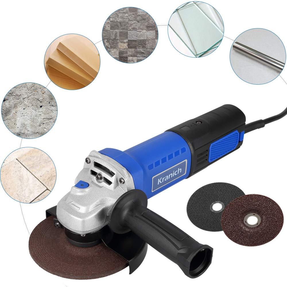 Scheibe /Ø 125 mm, 1250 Watt, drehbarer Handgriff, Trennscheibe, Schleifscheiben Winkelschleifer Set
