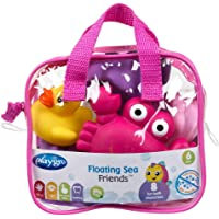 Playgro Fully Sealed Pink Floating Sea Friends, Pink,