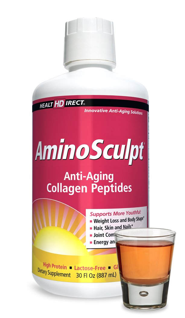 AminoSculpt Liquid Collagen Supplement (Tart Cherry Flavor) from Health Direct, 30 Fl Oz, 16,000 mg Strength by Health Direct