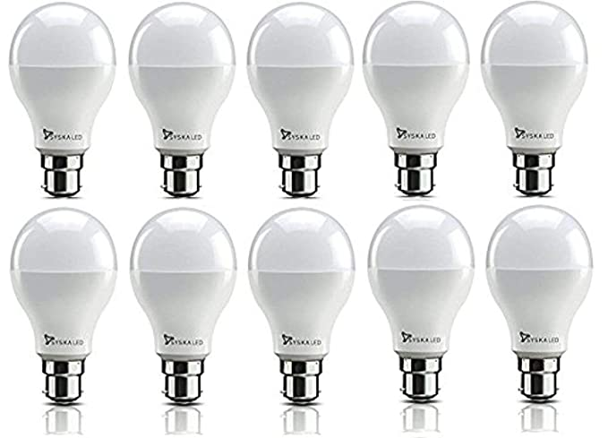 Buy Syska PAG SRL Base B22 9-Watt LED Bulb (Pack of 10, Cool White) Online at Low Prices in India - Amazon.in