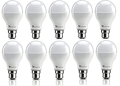 Syska SRL Base B22 9-Watt LED Bulb (Pack of 10,...