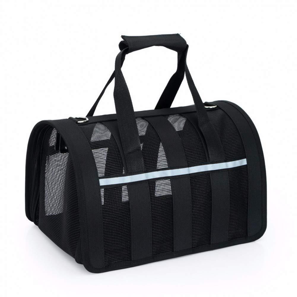 Black 34x24x24cm Black 34x24x24cm ZIOFV Package Pet Carrier Bags Small Dog Travel Bag Portable Pet Carrier Purse Breathable Puppy Dog Handbag Reflective Stripe