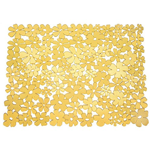 InterDesign Blumz Kitchen Sink Protector Mat - Large, Yellow