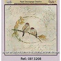 Dayka Trade Papel Decoupage, Model Pájaros En Rama