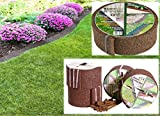 flower bed edging Valley View EER-8DB-MC Earth Rubber Edging, Dark Brown
