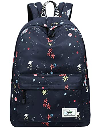 8dffe3767 Amazon.com: School Bookbags for Girls, Cute Galaxy Stars Planets Backpack College  Bags Women Daypack Travel Bag by Mygreen (Black): Mygreen