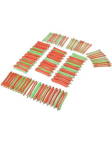 Sharplace 80pcs 8 Tamaños Apretón Bigudíes de Rodillo de Cabello Barra de Ondulación Permanente Salon Hair