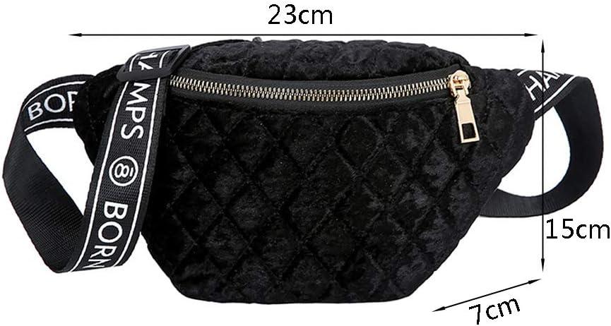 YUNAWU Women Fanny Pack Phone Pouch Zipper Shoulder Chest Bag Lady Multifunctional Waist Pack Crossbody Handbag