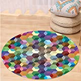Best Tea Time Mouse Traps - VROSELV Custom carpetAbstract Home Decor Collection Color Cubes Review