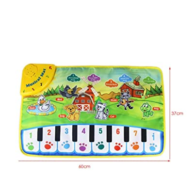 Angelof Kids Baby Zoo Animal Musical Touch Play Singing Carpet Mat Toy