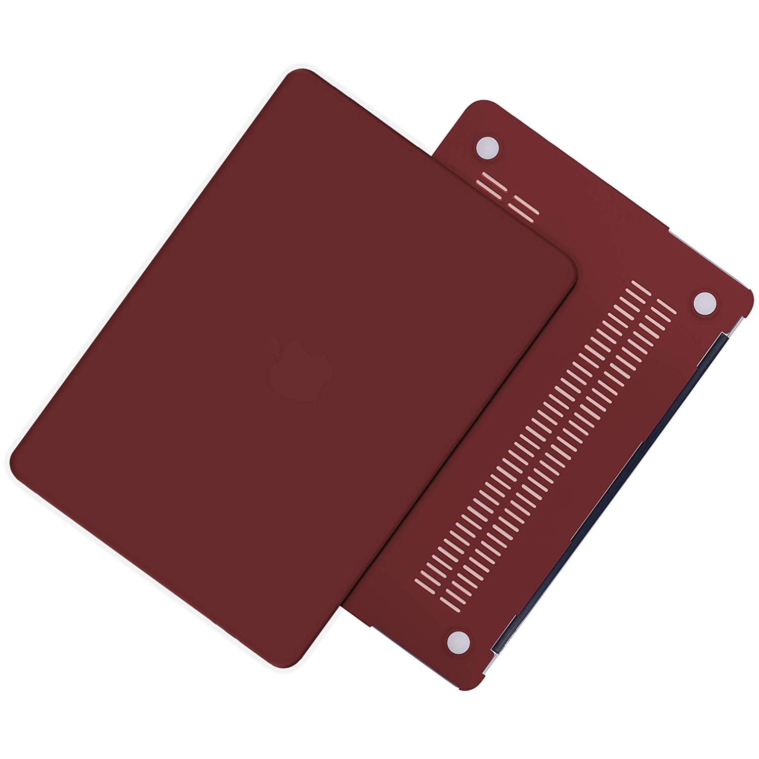 TECOOL Hard Case for MacBook Air 13 inch Model A1466//A1369 Slim Plastic Shell Protective Case with Transparent Keyboard Cover for Apple 2010-2017 MacBook Air 13.3 Wine Red
