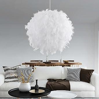 Licht Weiße Moderner Feder Luxus Anhänger Schatten Decke Aiernuo 8wnkXOPN0Z