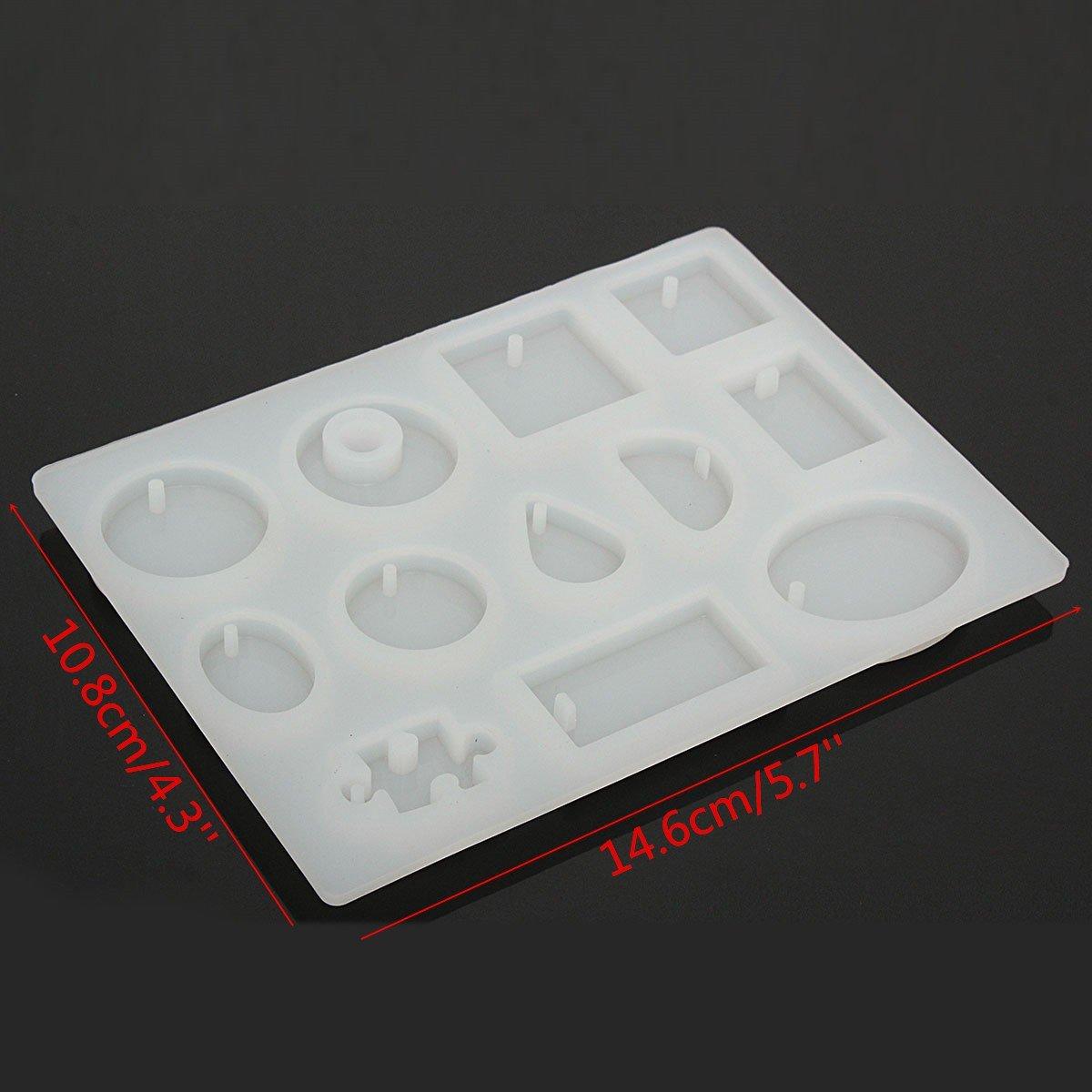 Moldes para resina de King Do Way, para joyas, manualidades y bricolaje, 12 patrones, color blanco: Amazon.es: Hogar