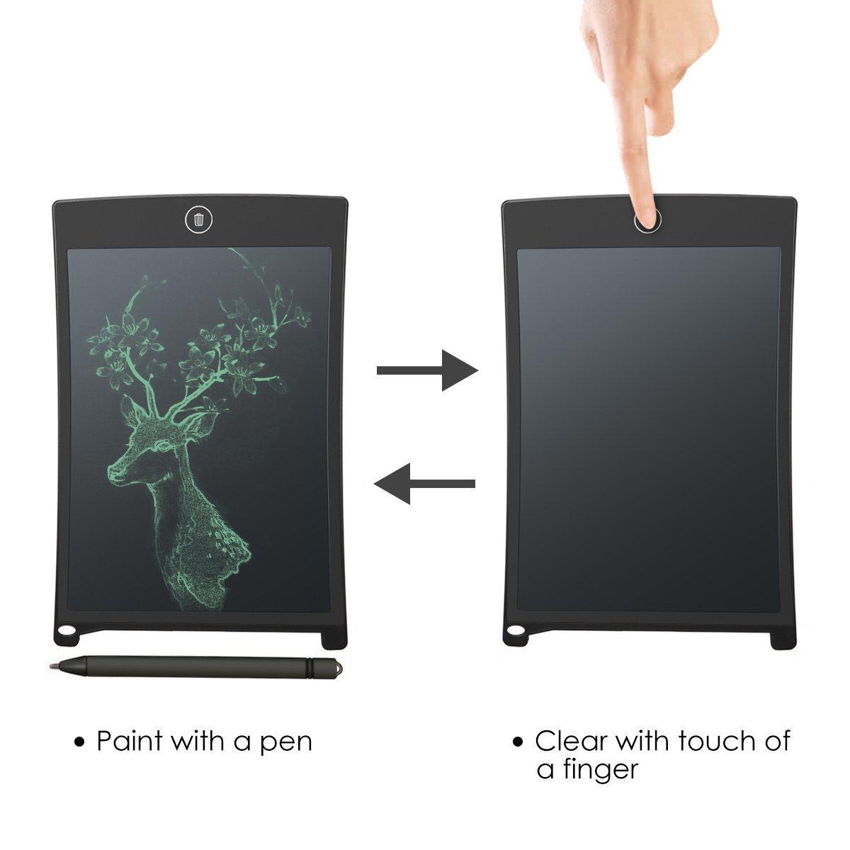 Tableta de Escritura LCD 12 Inch Tablero de Mensaje & Dibujo Digital de Cristal Líquido LCD Tableta,para Escritura de Dibujo niños,Reunión de la ...