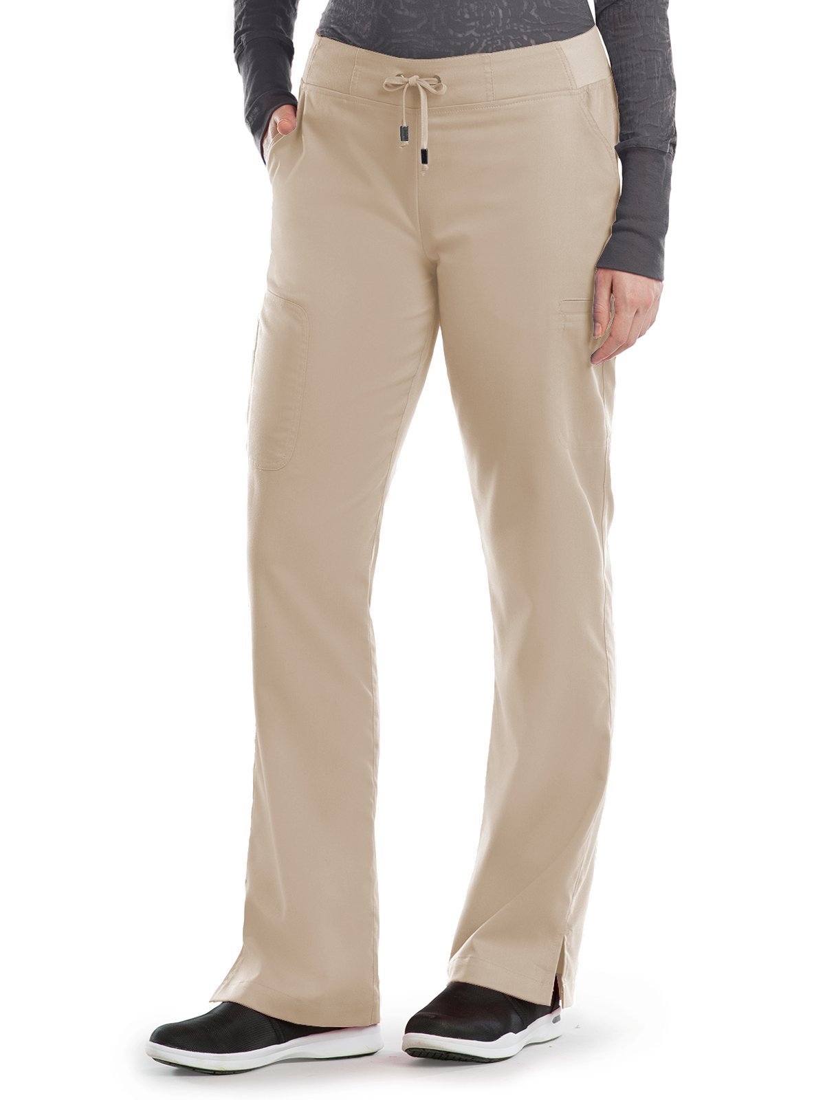 Grey's Anatomy 4277 Straight Leg Pant New Khaki XS