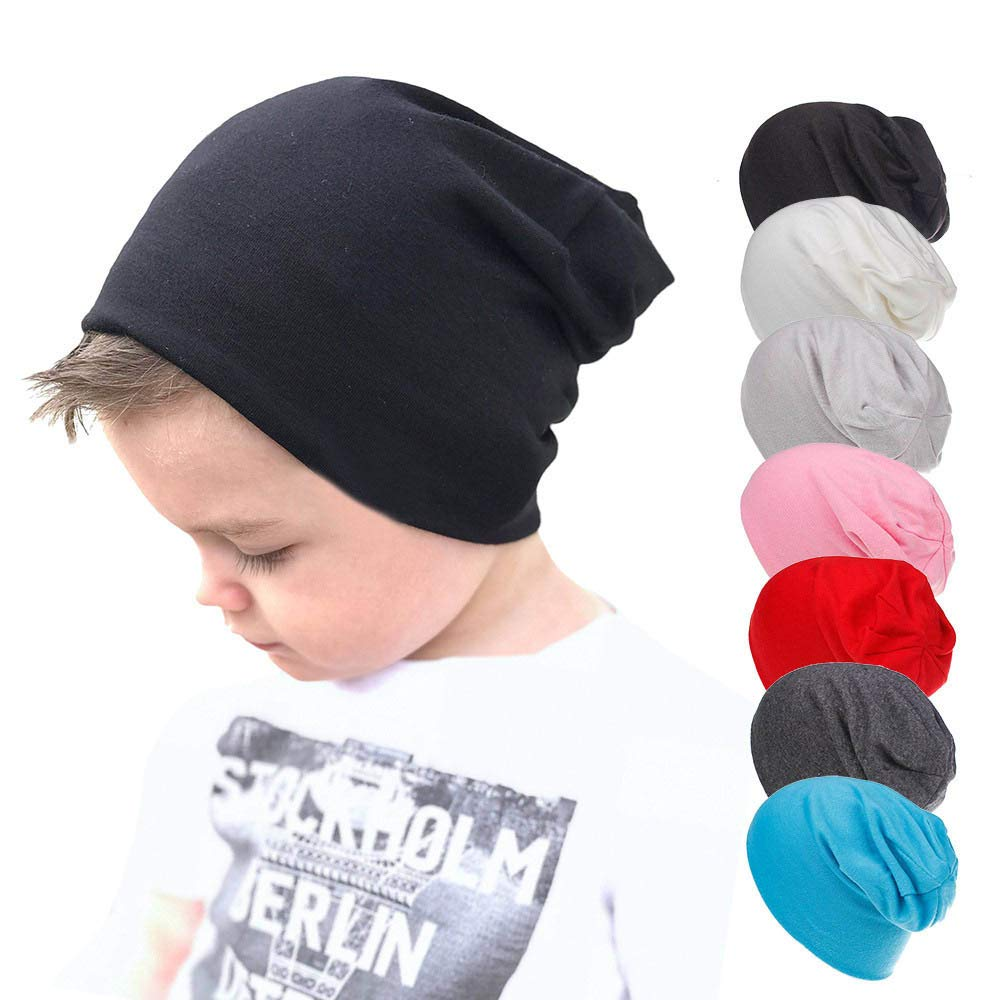Gbell Toddler Soft Cotton Hip Hop Hat Cap Kids Baby Boy Girl Infant Cotton Beanie Caps Solid Color