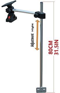 Amazon com: Fishing Transducer Mount Assembly for Bow (Black