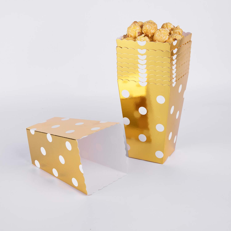 Bolsas de palomitas de maíz, 60 cajas de palomitas de maíz doradas de cartón para aperitivos de fiesta, palomitas de maíz y regalos: Amazon.es: Bricolaje y ...