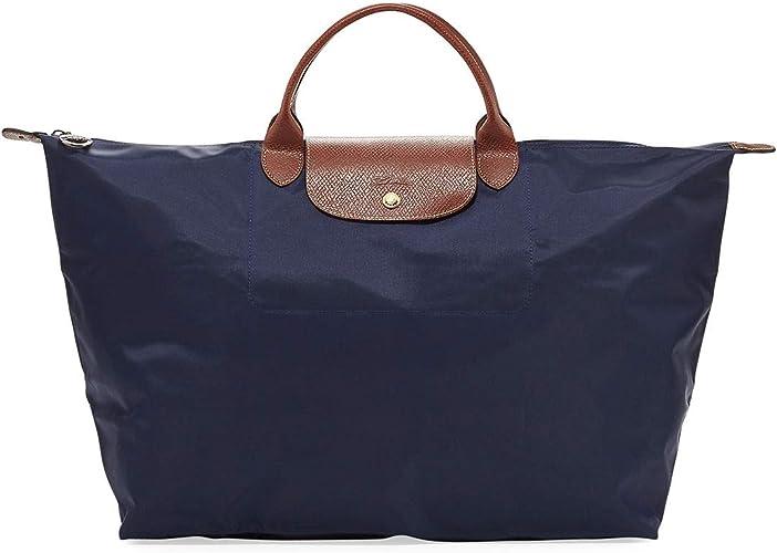 Longchamp Le Pliage Sac de voyage en nylon Bleu marine Taille L ...