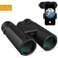 APEMAN Fernglas 10x50 kompakte Ferngläser für Vogelbeobachtung, Wandern, Jagd, Sightseeing, Kleines Fernglas mit Nachtsicht-Funktion.FMC Linse, Tragetasche und Smartphone-Adapter