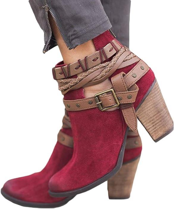 ♥‿♥ Loveso Loveso ♥‿♥ Mode Schuhe Damen,Frauen Stiefeletten Herbst Winter ... 5d2169
