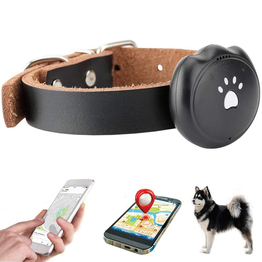 JYS365 GPS Pet Tracker Dog Cat Locator Waterproof Convenient Long Battery Tracking Anti-Lost Activity Monitor Black