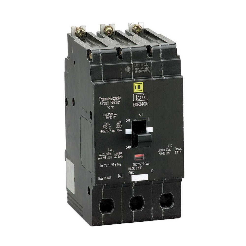New Square D EDB34030 Circuit Breaker 3 Pole 30A 277V 480V 18kA EDB Series