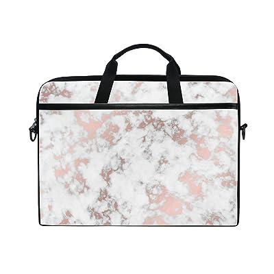 ALAZA Rose Gold Marble Laptop Bag Shoulder Bag Briefcase Messenger Tablet Bag 15 15.6 Inch for Women Men