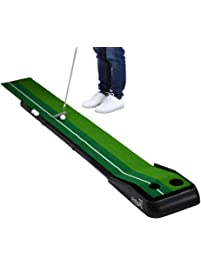 Balight Putting Green Indoor Outdoor Golf Auto Return With 3 Ball And 1  Putter Putting Trainer