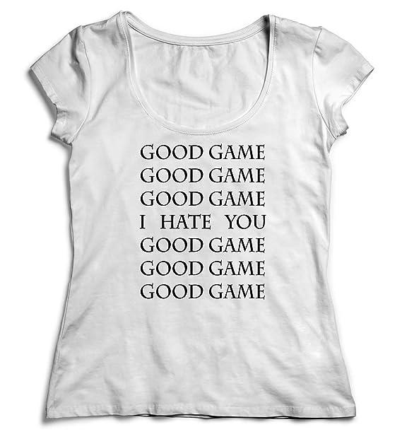 91da5a0e3 Good Game I Hate You GG Shirt Women Christmas T-Shirt Tshirt Cotton SM White