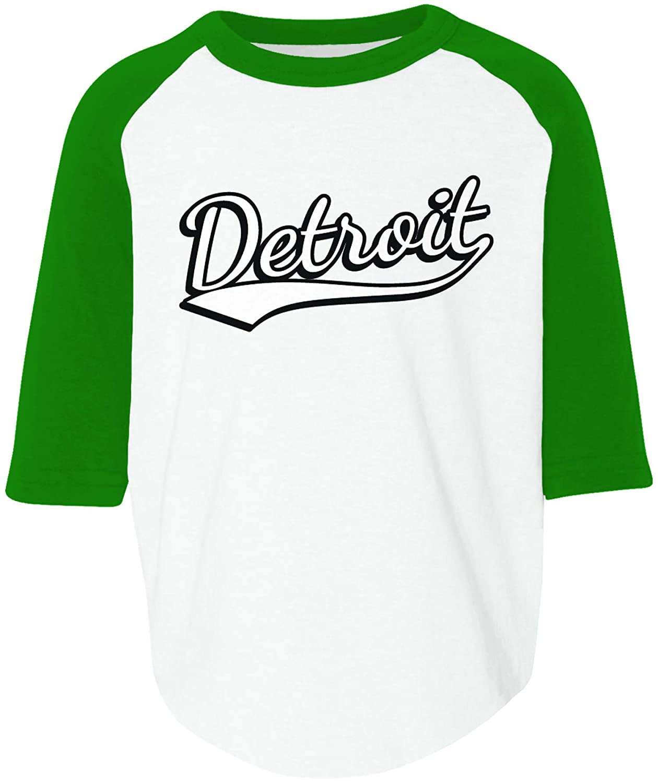 Michigan Toddler Raglan Shirt Amdesco Detroit