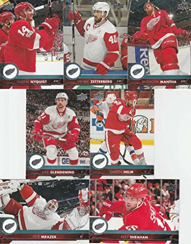Upper Deck Detroit Red Wings - 2017-18 Upper Deck Complete Detroit Red Wings Team Set of 13 Cards: Anthony Mantha(#65), Gustav Nyquist(#66), Henrik Zetterberg(#67), Luke Glendening(#68), Petr Mrazek(#69), Riley Sheahan(#70), Darren Helm(#71), Trevor Daley(#313), Jim Howard(#314), Tomas Tatar(#315), Frans Nielsen(#316), Dylan Larkin(#317), Mike Green(#318)